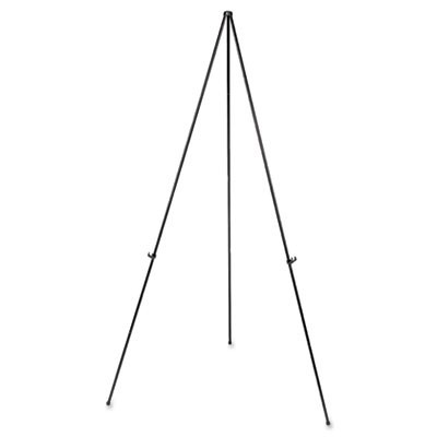 "Heavy-Duty Instant Setup Foldaway Easel, Adjusts 25"" - 63"" High, Aluminum, Black"