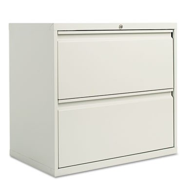 TWO-DRAWER LATERAL FILE CABINET, 30W X 18D X 28H, LIGHT GRAY