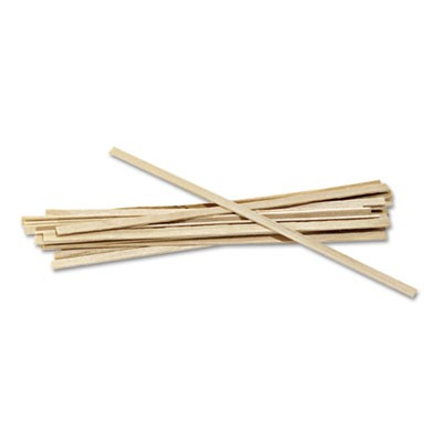 "Wood Coffee Stirrers, 5 1/2"" Long, Woodgrain, 1000 Stirrers/box"