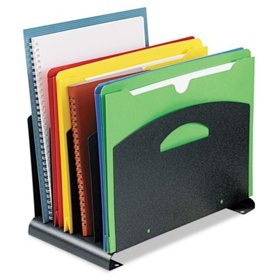 "CONTEMPORARY ORGANIZER WITH HANDLES, 4 SECTIONS, LETTER TO LEGAL SIZE FILES, 7.25"" X 12"" X 7.5"", GRANITE"