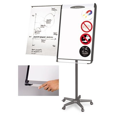 Platinum Mobile Easel, White, 29 X 41, Black Frame