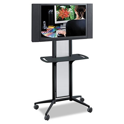 IMPROMPTU FLAT PANEL TV CART, 38W X 20D X 65.5H, BLACK
