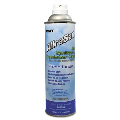 ALTRASAN AIR SANITIZER & DEODORIZER, FRESH LINEN, 10 OZ AEROSOL SPRAY