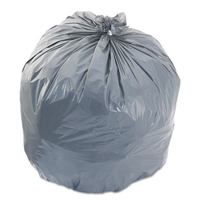 "LOW-DENSITY WASTE CAN LINERS, 33 GAL, 1.1 MIL, 33"" X 39"", GRAY, 100/CARTON"