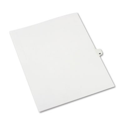 PREPRINTED LEGAL EXHIBIT SIDE TAB INDEX DIVIDERS, AVERY STYLE, 10-TAB, 40, 11 X 8.5, WHITE, 25/PACK