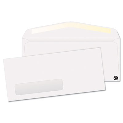 WINDOW ENVELOPE, #10, COMMERCIAL FLAP, GUMMED CLOSURE, 4.13 X 9.5, WHITE, 500/BOX