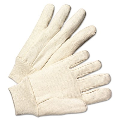 Light-Duty Canvas Gloves, White, Dozen