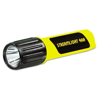PROPOLYMER LUX LED FLASHLIGHT, 4 AA BATTERIES (INCLUDED), YELLOW