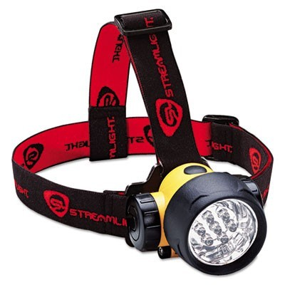 SEPTOR LED HEADLAMP, 3 AAA BATTERIES (INCLUDED), YELLOW/BLACK