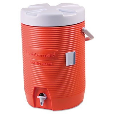 "Insulated Beverage Container, 3gal, 11"" Dia X 16 7/10h, Orange/white"