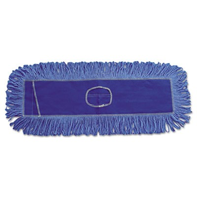 Mop Head, Dust, Looped-End, Cotton/synthetic Fibers, 18 X 5, Blue