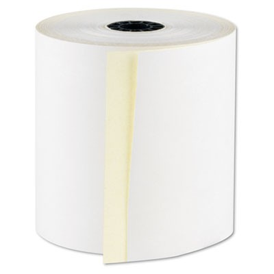 "REGISTROLLS TWO-PART CARBONLESS POINT-OF-SALE ROLLS, 3"" X 100 FT, WHITE, 30/CARTON"