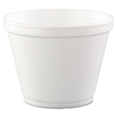 Food Containers, Foam,12oz, White, 25/bag, 20 Bags/carton
