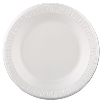 "Quiet Classic Laminated Foam Dinnerware, Plate, 10 1/4"", White, 125/pk, 4 Pks/cs"