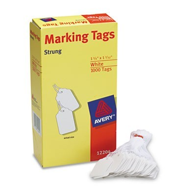 Medium-Weight White Marking Tags, 1 3/4 X 1 3/32, 1,000/box