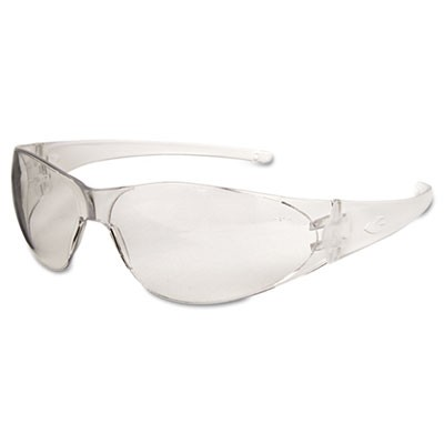 Checkmate Safety Glasses, Clear Temple, Clear Lens, Anti Fog