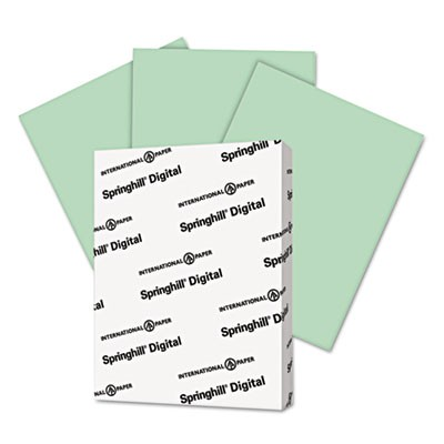 DIGITAL INDEX COLOR CARD STOCK, 90LB, 8.5 X 11, GREEN, 250/PACK