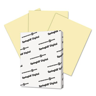 DIGITAL INDEX COLOR CARD STOCK, 90LB, 8.5 X 11, CANARY, 250/PACK