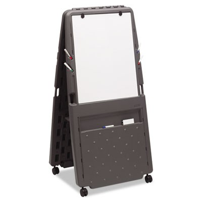 Presentation Flipchart Easel With Dry Erase Surface, Resin, 33x28x73, Charcoal