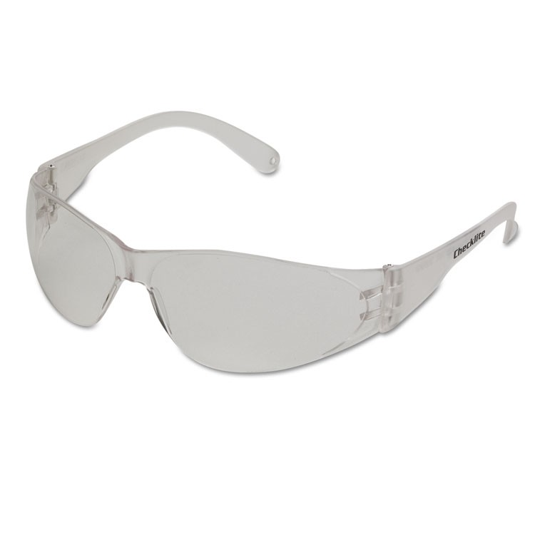 Checklite Scratch-Resistant Safety Glasses, Clear Lens