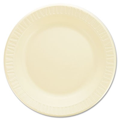 "Laminated Foam Dinnerware, Plates, 10 1/4"", Honey, 125/pk, 4 Pks/ctn"