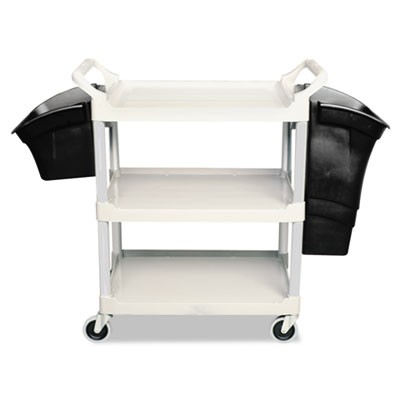 XTRA UTILITY CART, 300-LB CAPACITY, THREE-SHELF, 20W X 40.63D X 37.8H, GRAY