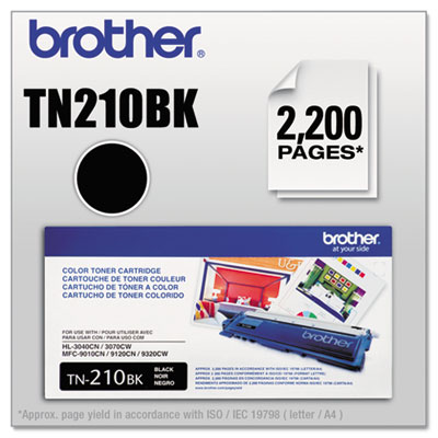 TN210BK TONER, 2200 PAGE-YIELD, BLACK