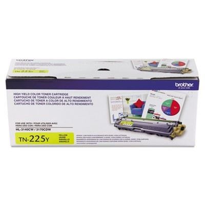TN225Y HIGH-YIELD TONER, 2200 PAGE-YIELD, YELLOW