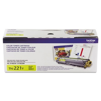 TN221Y TONER, 1400 PAGE-YIELD, YELLOW