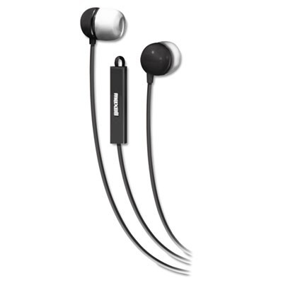 In-Ear Buds With Built-In Microphone, Black