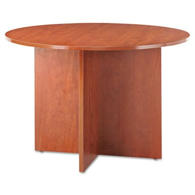 Alera Valencia Round Conference Table W/legs, 29 1/2h X 42 Dia., Medium Cherry