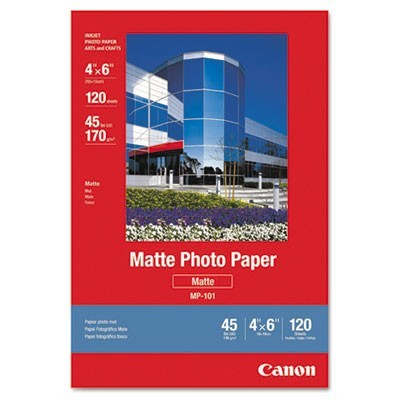 MATTE PHOTO PAPER, 4 X 6, MATTE WHITE, 120/PACK