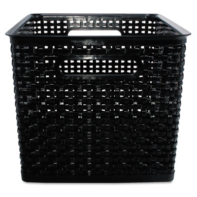 "WEAVE BINS, 13.88"" X 10.75"" X 8.75"", BLACK, 2/PACK"