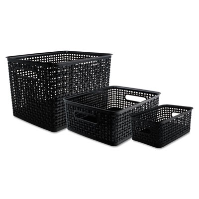 "WEAVE BINS, 13.63"" X 10.75"" X 9"", BLACK, 3/PACK"
