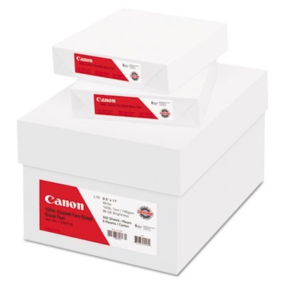 COATED TWO-SIDED GLOSS TEXT PAPER, 96 BRIGHT, 100LB, 8.5 X 11, 500 SHEETS/REAM, 6 REAMS/CARTON