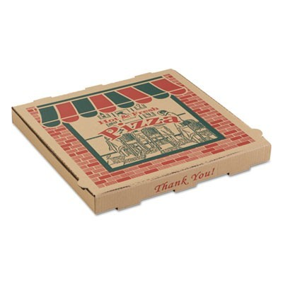 CORRUGATED PIZZA BOXES, 10 X 10 X 1 3/4, KRAFT, 50/CARTON