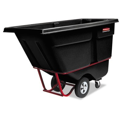 COMMERCIAL ROTOMOLDED TILT TRUCK, RECTANGULAR, PLASTIC, 1,250 LB CAPACITY, BLACK