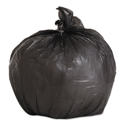 "LOW-DENSITY WASTE CAN LINERS, 4 GAL, 0.35 MIL, 17"" X 17"", BLACK, 1,000/CARTON"