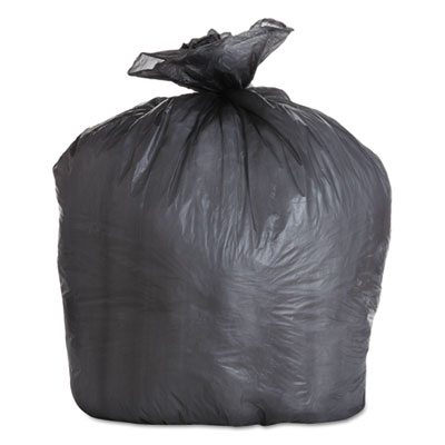 "HIGH-DENSITY CAN LINERS, 56 GAL, 19 MICRONS, 43"" X 47"", BLACK, 150/CARTON"