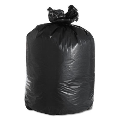 "LOW DENSITY REPRO CAN LINERS, 60 GAL, 2 MIL, 38"" X 58"", BLACK, 100/CARTON"
