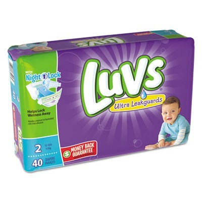 DIAPERS, SIZE 2: 12 LBS TO 18 LBS, 40/PACK, 2 PACK/CARTON
