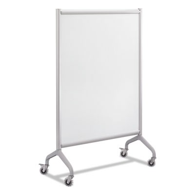RUMBA FULL PANEL WHITEBOARD COLLABORATION SCREEN, 36W X 16D X 54H, WHITE/GRAY