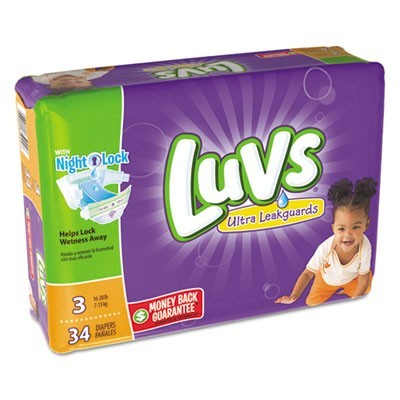 DIAPERS, SIZE 3: 16 LBS TO 28 LBS, 34/PACK, 4 PACK/CARTON
