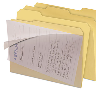 CLEAR VIEW INTERIOR FILE FOLDERS, 1/3-CUT TABS, LETTER SIZE, MANILA, 8/PACK