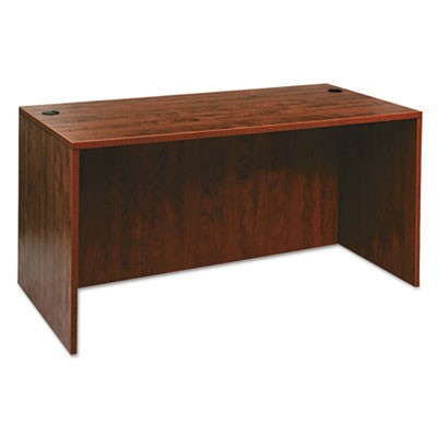 ALERA VALENCIA SERIES STRAIGHT DESK SHELL, 59.13W X 29.5D X 29.63H, MEDIUM CHERRY