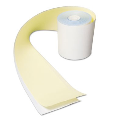 "NO CARBON REGISTER ROLLS, 3"" X 90 FT, WHITE/YELLOW, 30/CARTON"