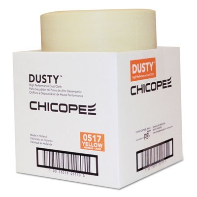 Disposable Dust Cloths, 7 7/8 X 11, Yellow, Rayon/poly, 350 Per Roll, 1 Roll/ct