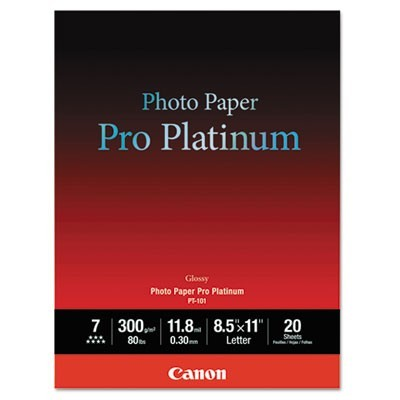 PHOTO PAPER PRO PLATINUM, 11.8 MIL, 8.5 X 11, HIGH-GLOSS WHITE, 20/PACK