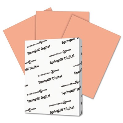 DIGITAL INDEX COLOR CARD STOCK, 90LB, 8.5 X 11, SALMON, 250/PACK