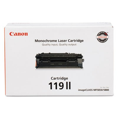 3480B001 (CRG-119 II) HIGH-YIELD TONER, 6400 PAGE-YIELD, BLACK